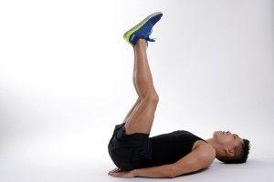elevación de piernas acostado