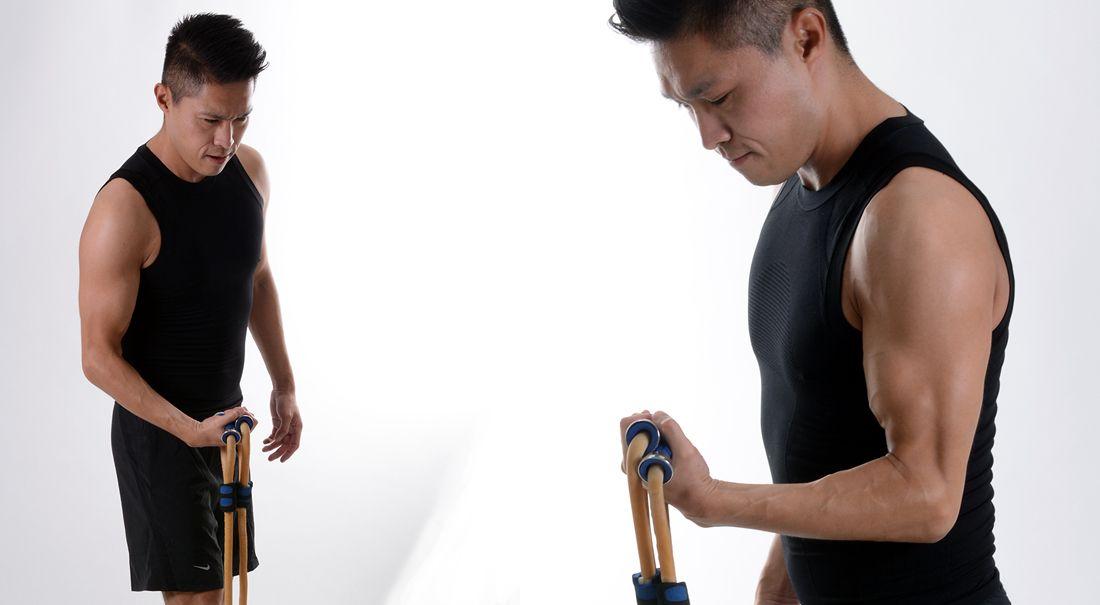 Rutina brazo y hombro con ligas de ejercicio