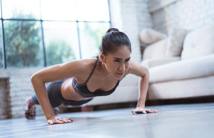 Rutina para tono muscular, con tu peso corporal Isometric-Push-up