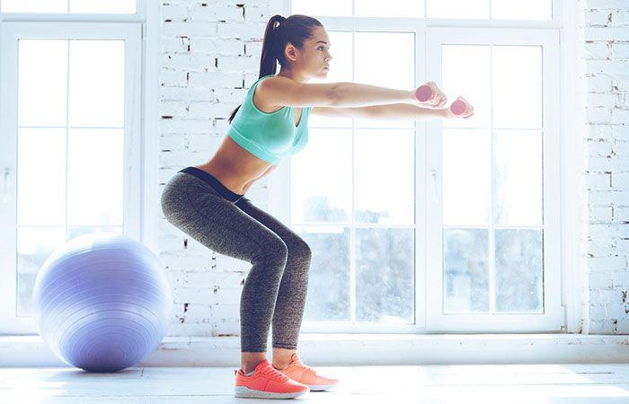Rutina para tono muscular, con tu peso corporal 22.-Squat-Hold