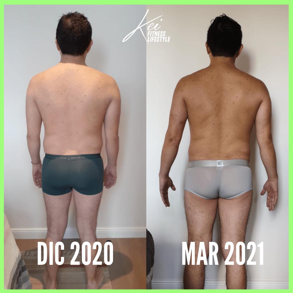 antes y después de hacer dieta cetogenica 12 semanas, antes y despues hombre dieta keto,