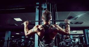 Rutina de ejercicios con polea y mancuernas para tríceps y espalda